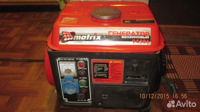 Генератор бензиновый matrix matrix