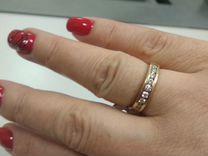 Золотое кольцо 585 пробы с 9 бриллиантами