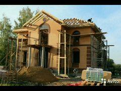 Строительство, фундамент, строительная биргада