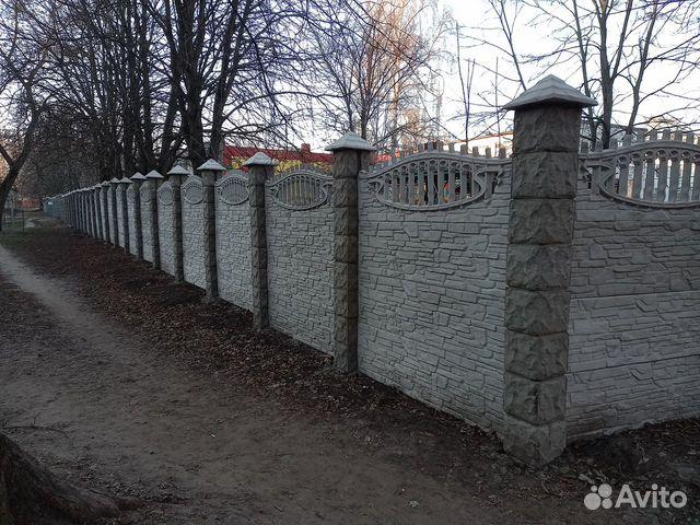 Забор из бетона декоративный купить бордюры для клумб из бетона купить цена