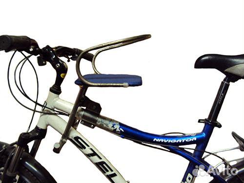 Детское кресло на велосипед на раму