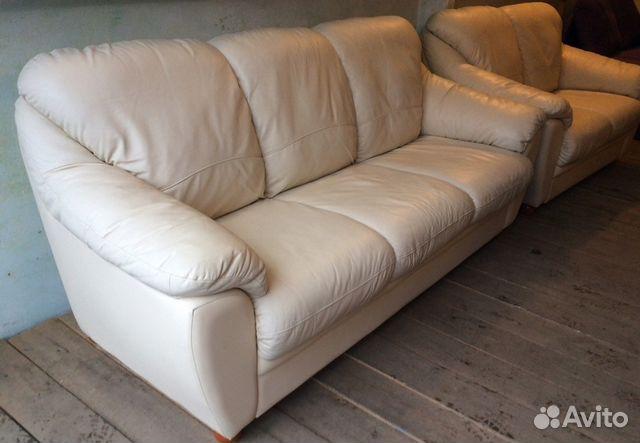 2ec0e2397f10 Трехместный кожаный диван - кровать из Финляндии купить в Алтайском ...