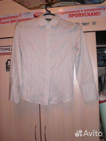 0540a6242a5 Белая школьная рубашка (146 см) купить в Санкт-Петербурге на Avito ...