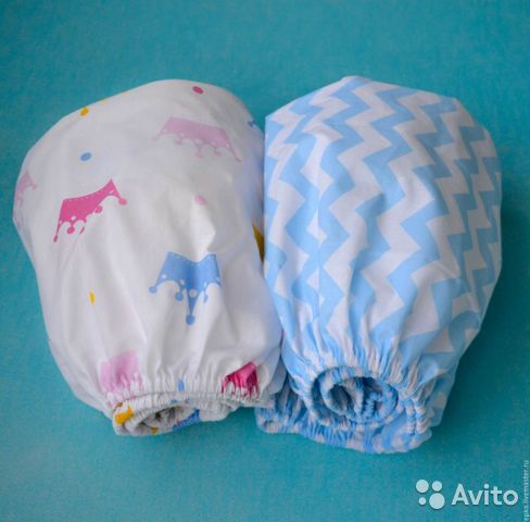 Простынь на резинке для новорожденных