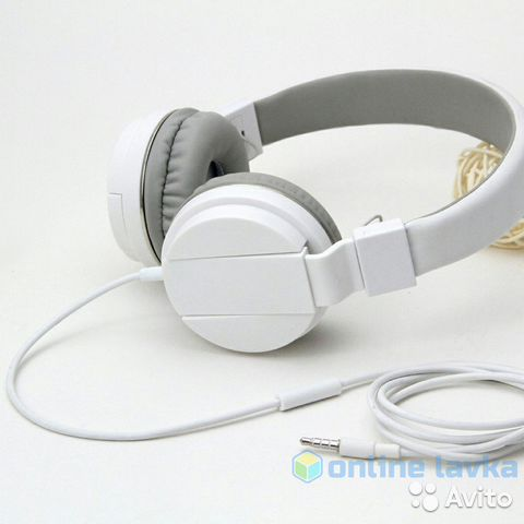 Наушники Gorsun GS-779 белые с микрофоном