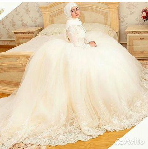 1b411b61687 Свадебные мусульманские платья закрытые с рукавом купить в Москве на ...