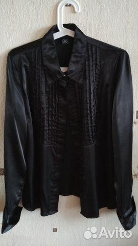 0ac4841e444 Черная атласная блуза новая. Смотрится шикарно