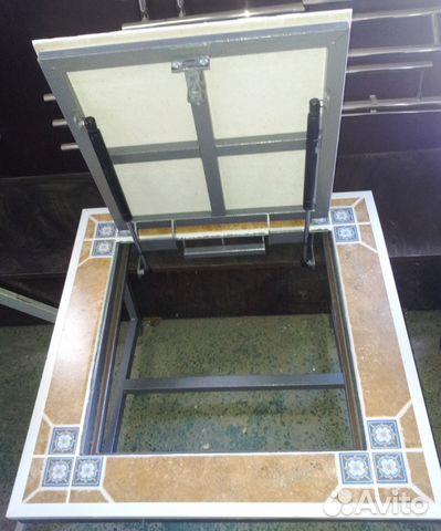 установка люка в подвал под плитку