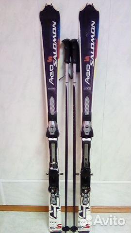 Горные лыжи, ботинки, палки купить в Краснодарском крае на Avito ... 99610f3e3e6