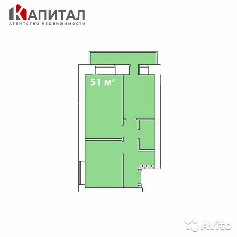 2-к квартира, 51 м², 6/10 эт. 89132494661 купить 1
