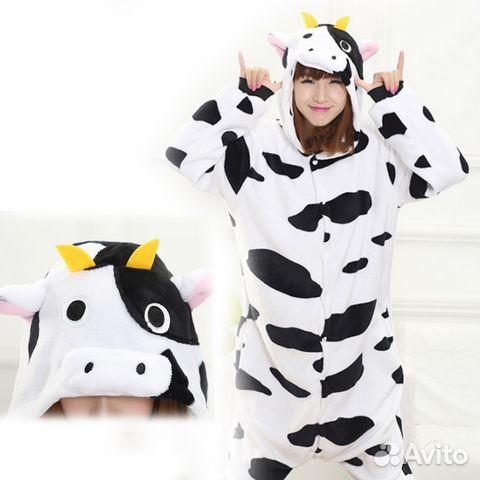 Кигуруми-пижама Корова детская купить в Санкт-Петербурге на Avito ... 8d0f1a67ce922