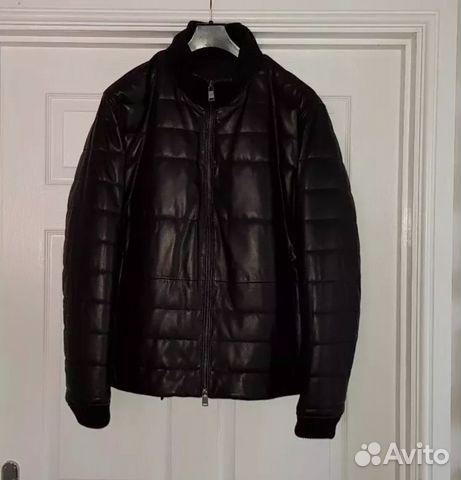 ac7e45ceffb7 Новая мужская кожаная куртка Hugo Boss зимняя купить в Москве на ...
