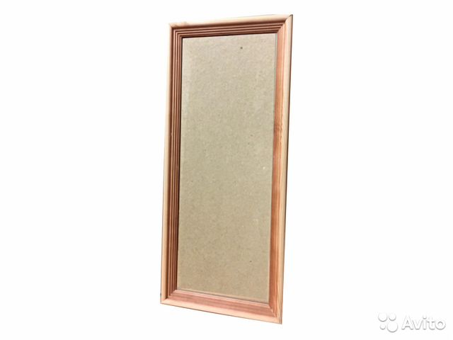панорамная деревянная рамка 20х50 см со стеклом купить в
