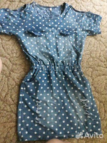 Платье джинсовое  89187474580 купить 1