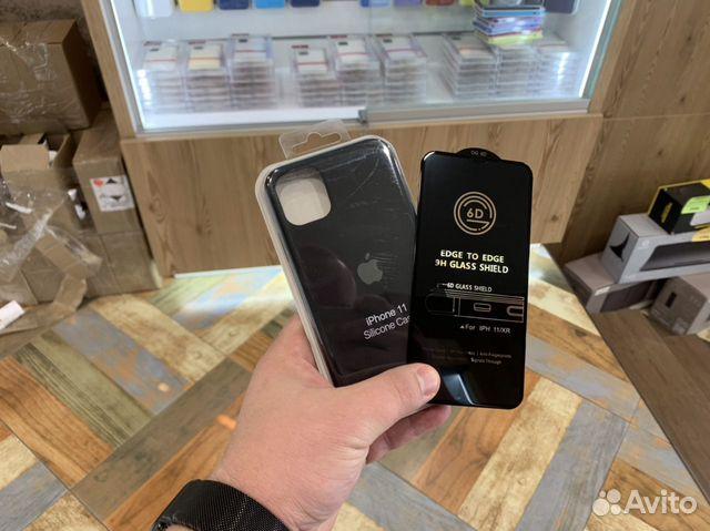 Чехол + стекло iPhone 11 черный 89002501001 купить 1
