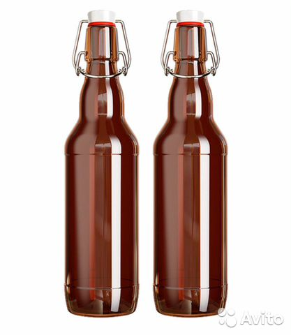 Бутылка стеклянная с бугельной пробкой