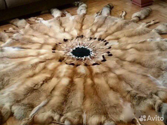 Ковер - покрывало, плед, одеяло из лисы