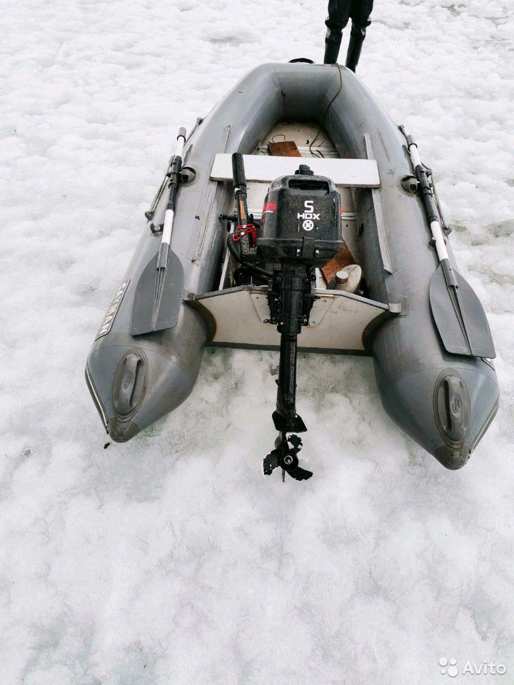 Лодка пвх-285. Матор HDX-5  89681480167 купить 3
