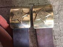 Добрый солдатский ремень СССР Начищенный и отполир