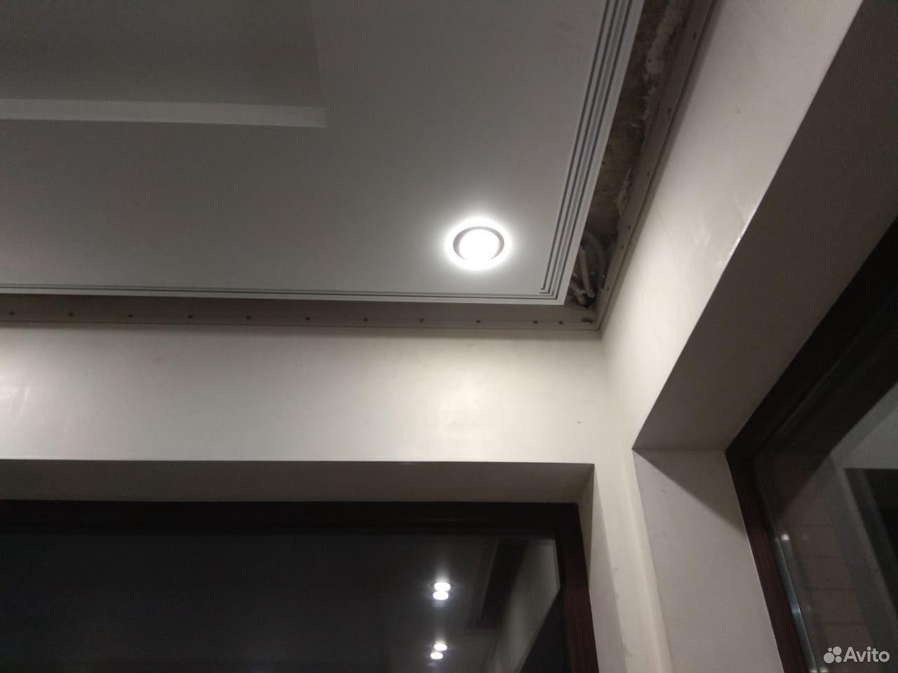 Натяжные потолки отступ под зановес