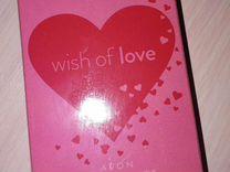 Туалетная вода Wish of love avon