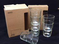 Набор стаканов IKEA rеко для дома (6 шт.) новые