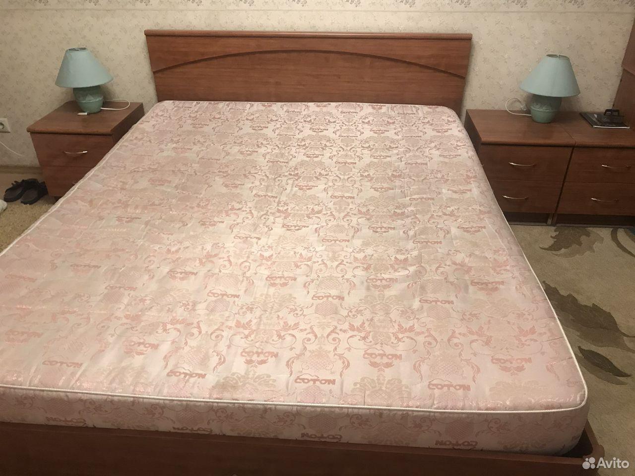 Кровать двуспальная с прикроватными тумбами  89039082198 купить 2