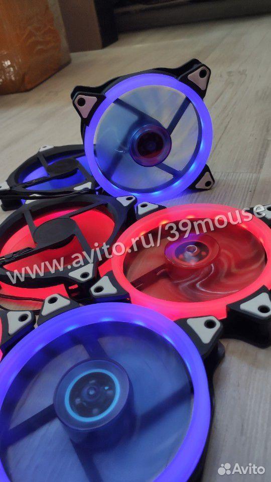 Кулер вентилятор с подсветкой RGB новые 120мм  89216108390 купить 7