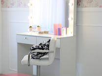 Зеркало визажиста и гримерный стол (комплект)