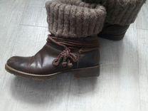 Кожаные ботинки женские — Одежда, обувь, аксессуары в Новосибирске