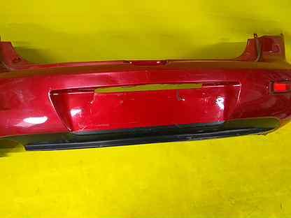 Бампер задний Мазда 3 BK Хэтчбек 2003-06г Красный