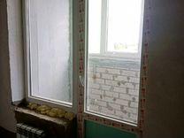 Пластиковые окно и дверь (балконный блок)