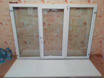 Окно деревянное 1450 * 2003 см б у